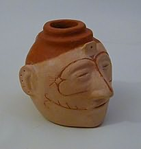 Small Effigy Head Pot0